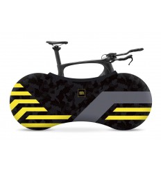 INDOOR BIKE COVER - YELLOW LINES